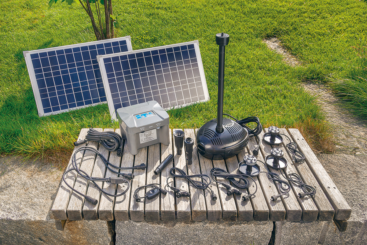 solar teichpumpe mit akku 50w solarpumpe gartenteichpumpe teich esotec 101727 ebay. Black Bedroom Furniture Sets. Home Design Ideas