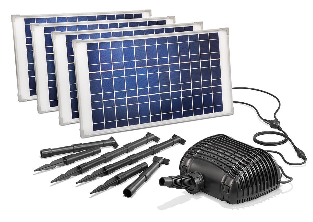 solar bachlaufpumpe 100w 5000l h solarpumpe wasserfall. Black Bedroom Furniture Sets. Home Design Ideas