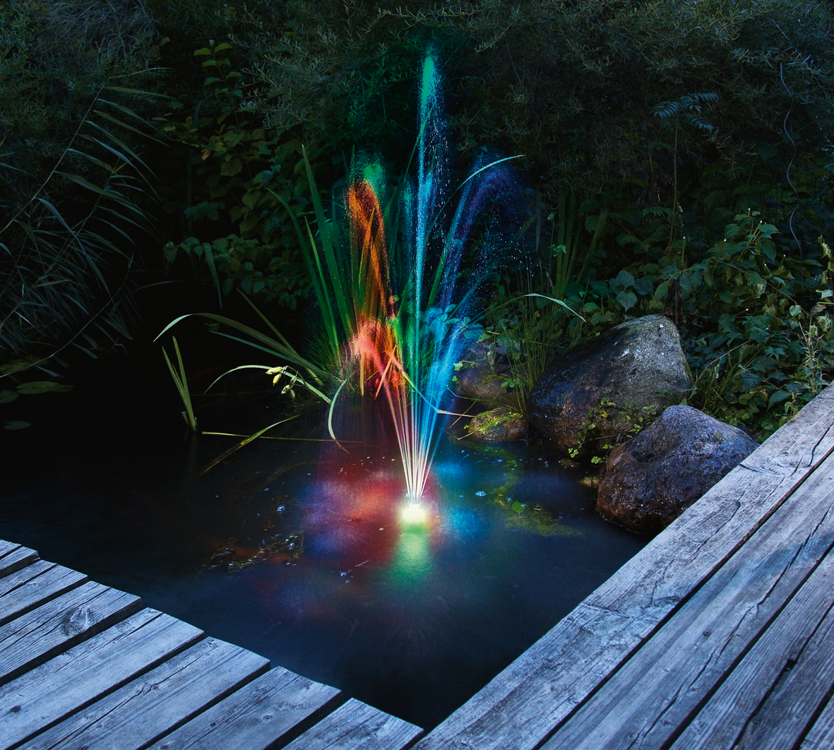 Teichpumpe Led Beleuchtung | Led Lichtring Bunt Rgb Solar Teichpumpen Teich Beleuchtung Esotec