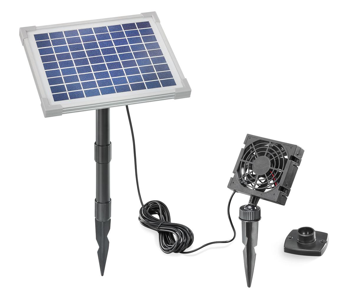 5w solarl fter set solarventilator l fter bel ftungsset. Black Bedroom Furniture Sets. Home Design Ideas
