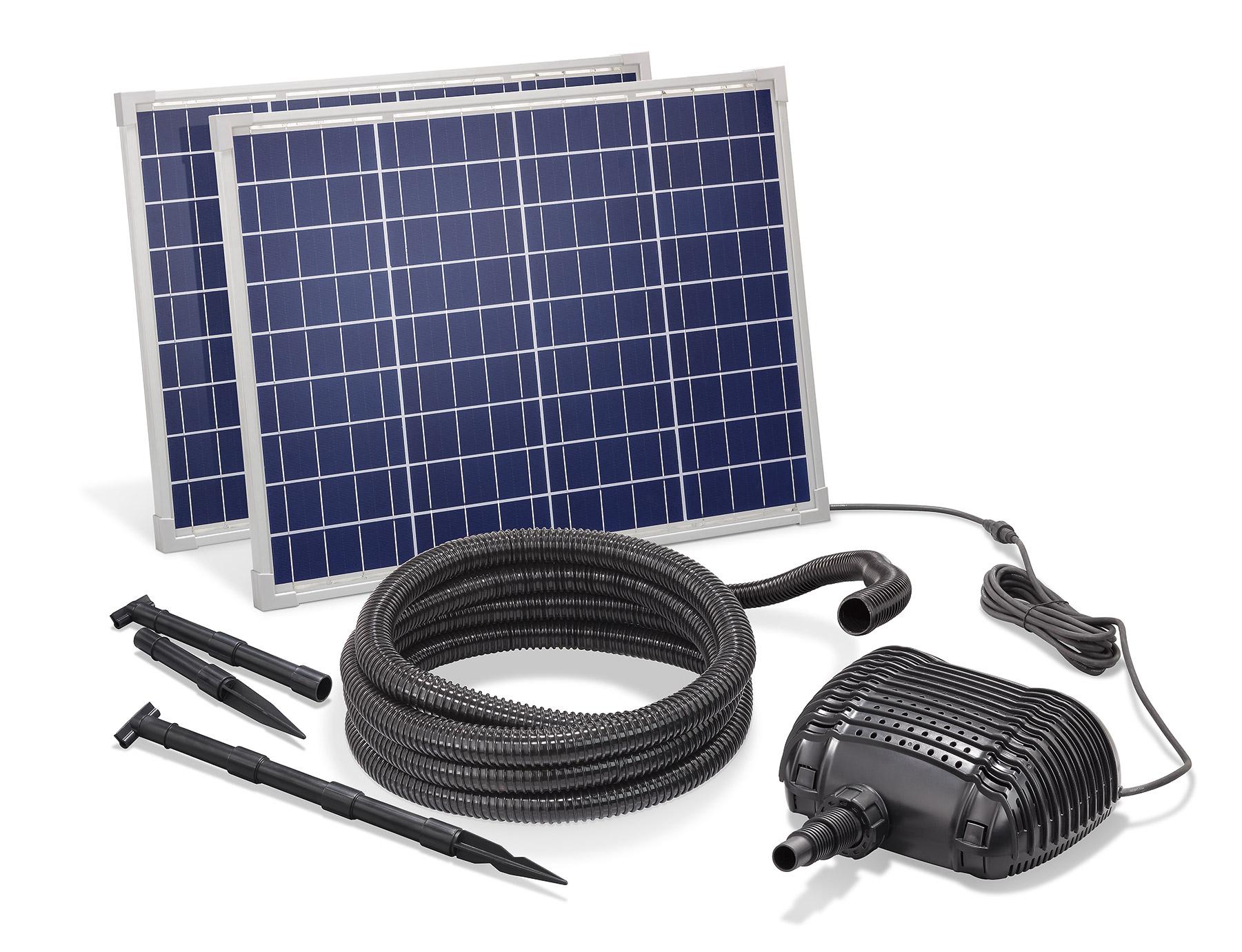 solar bachlaufpumpe 100w 3400l h solarpumpe wasserfall. Black Bedroom Furniture Sets. Home Design Ideas