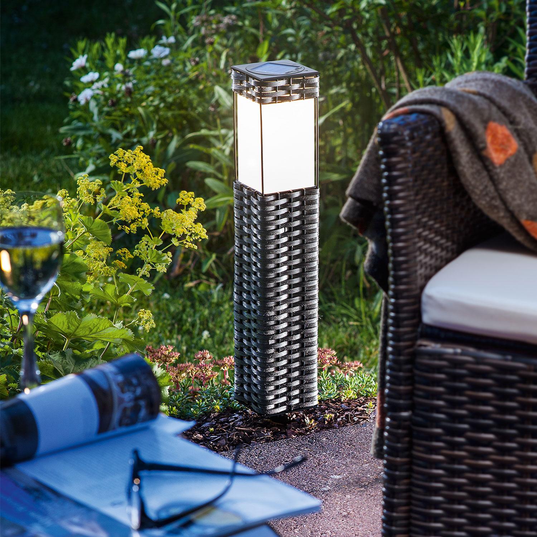 Solarleuchte rattan warmwei standleuchte gartenleuchte for Balizas solares para jardin