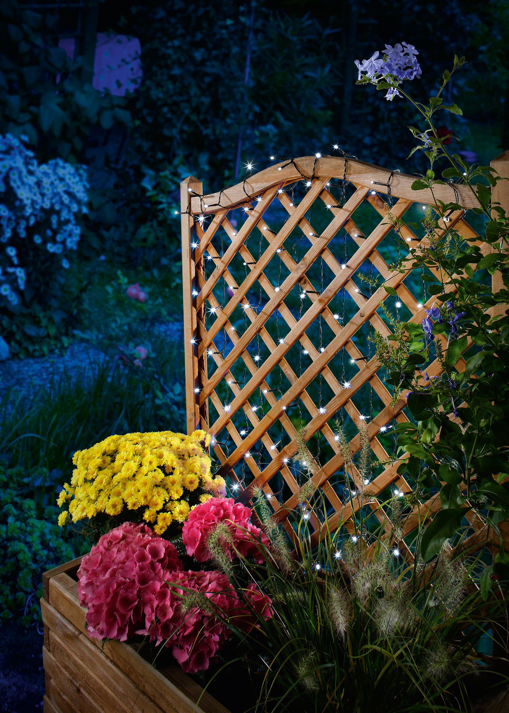 solar lichterkette 100led kaltwei solarleuchte solarlampe. Black Bedroom Furniture Sets. Home Design Ideas