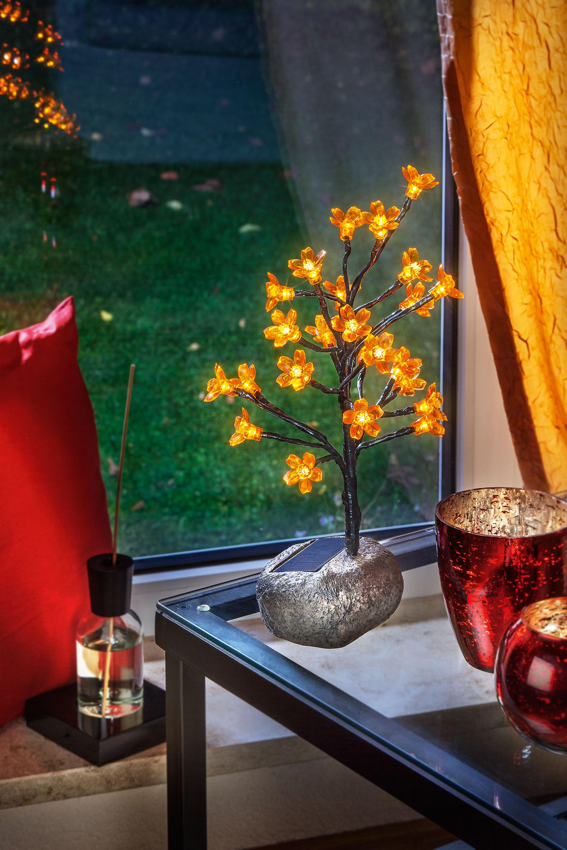 solar bl tenstrau dekoleuchte solarlampe tischleuchte au en led esotec 102106 4260057863737 ebay. Black Bedroom Furniture Sets. Home Design Ideas