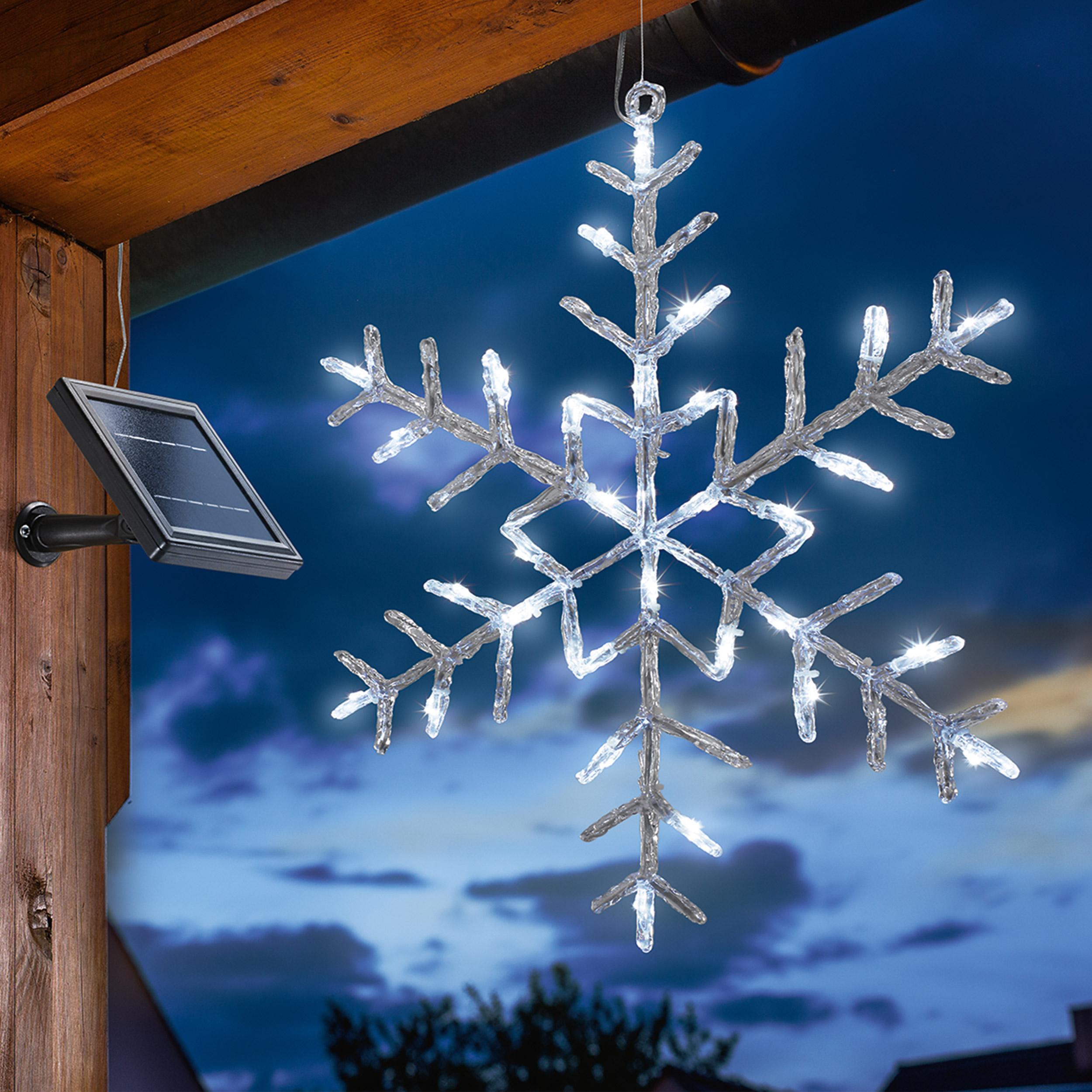 Solar Eiskristall Winterdekoration Weihnachten Leuchtstern Winter ...