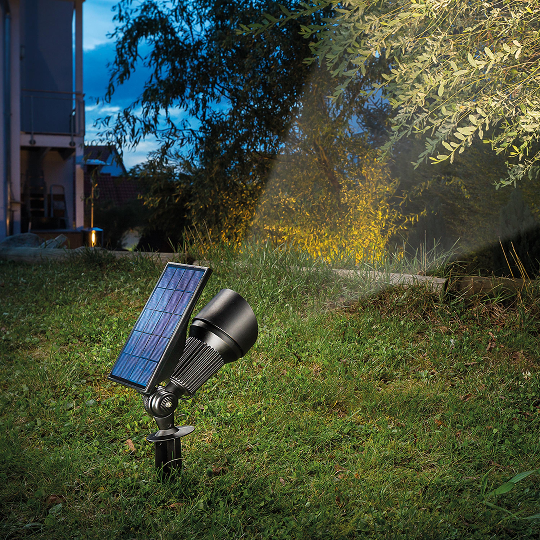 Gut bekannt Solar Strahler Superspot warm + kaltweiß Solarleuchte LED Garten EO39