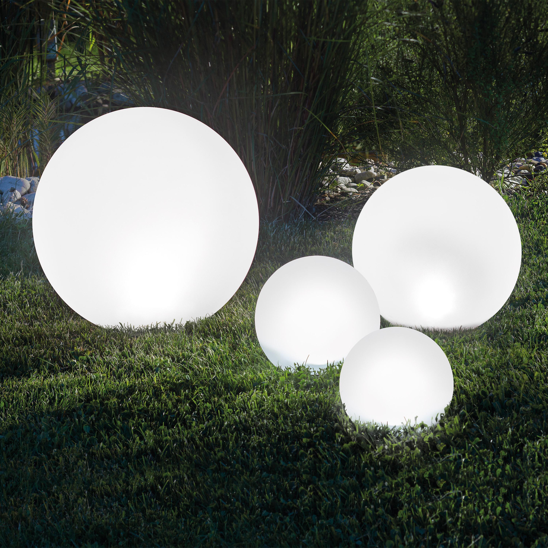 Solar Leuchtkugel 4er Set 20,30,40,50cm Solarkugel Gartenlampe Solarlampe 102615