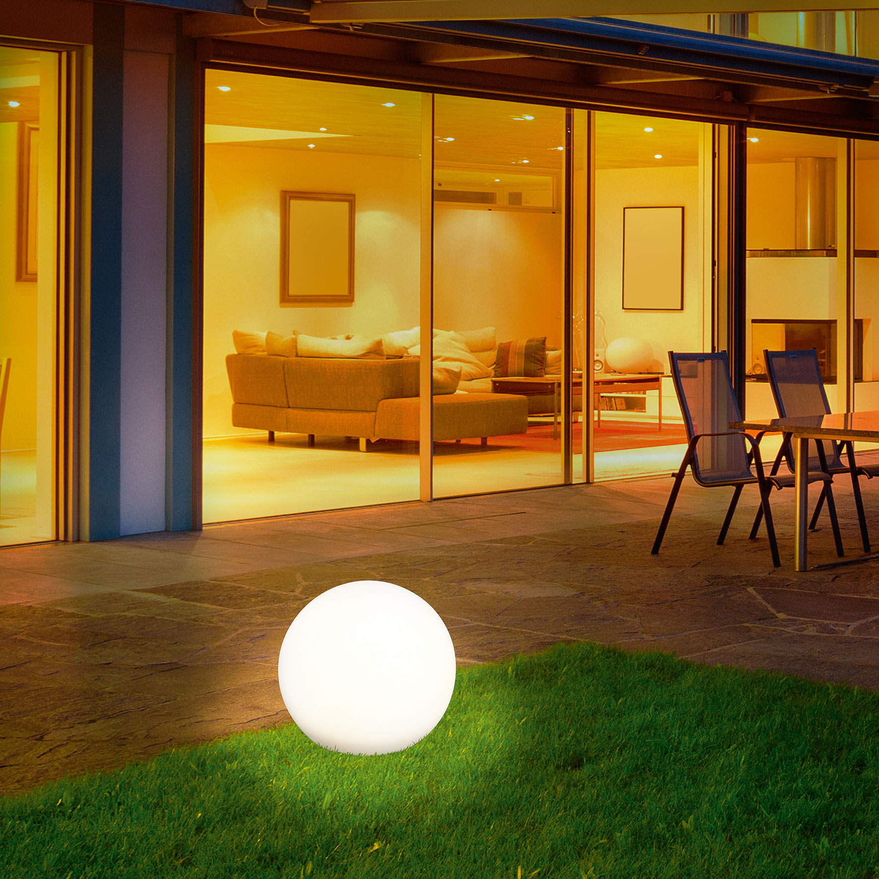 esotec 106024 Solar Leuchtkugel 30cm Solarlampe Gartenleuchte Solarkugel LED